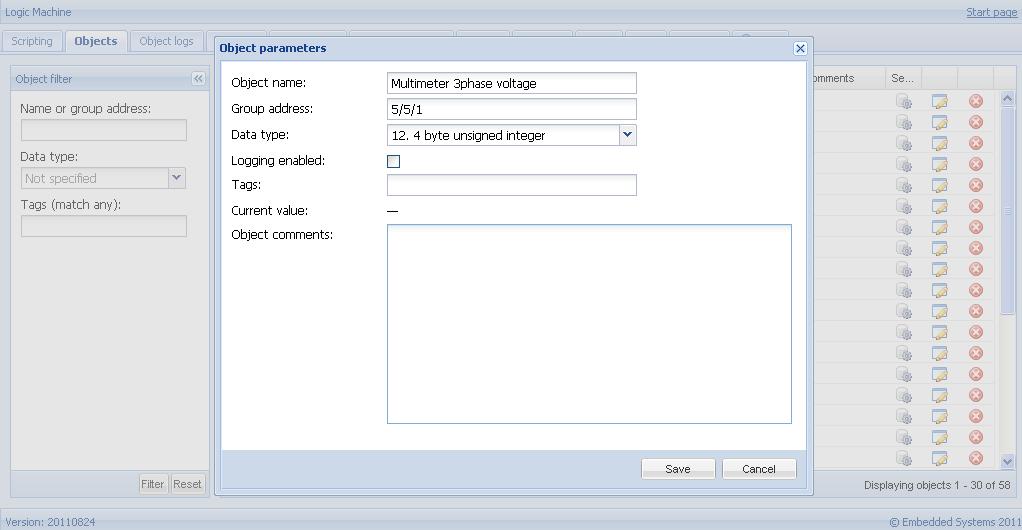 Write Modbus RTU multimeter values to KNX/EIB bus group