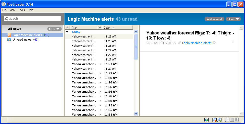 Read alerts from LM2 by RSS feeds   Logic Machine platform