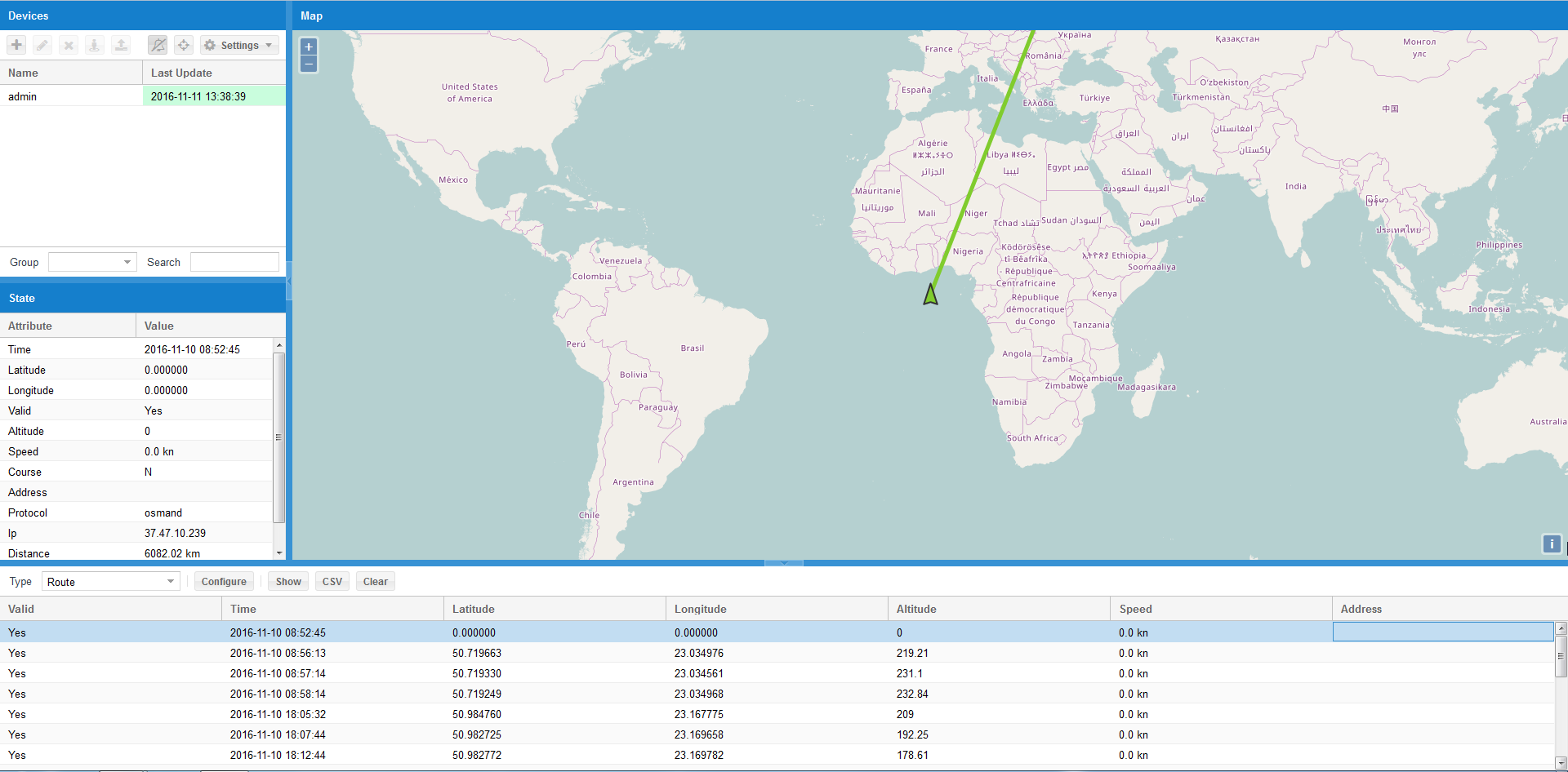 Geolocalization with LM based on Traccar service | Logic